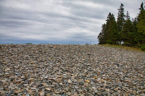 Natural Seawall, Acadia National Park, Maine stock photo