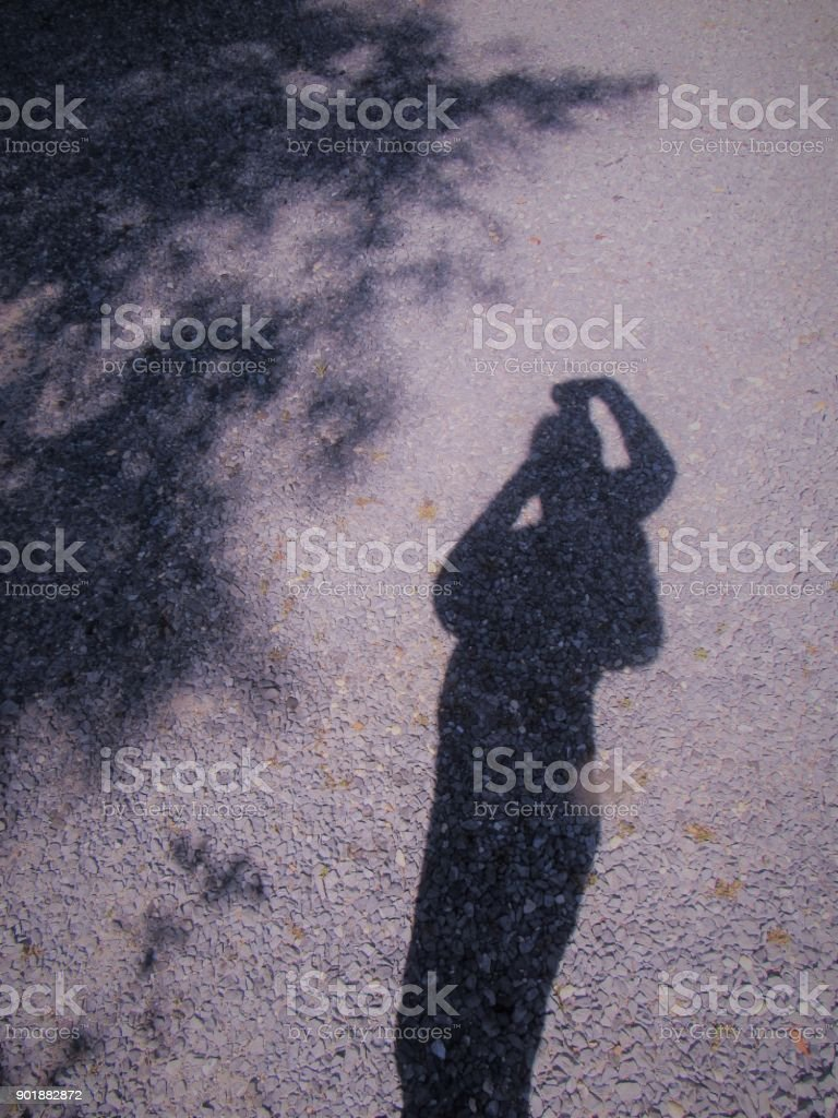 Natural Shadows With Girl stock photo