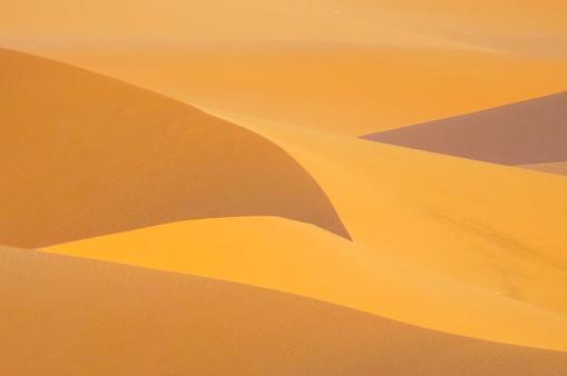 Red sand dunes in the Algeria