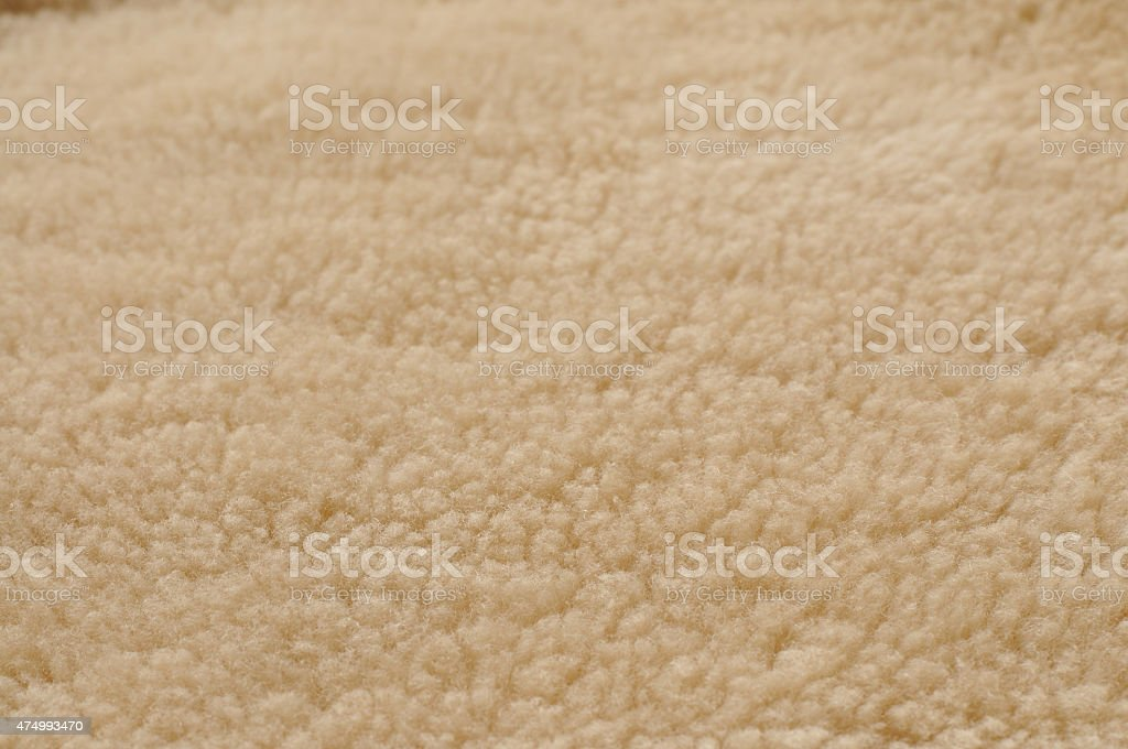 Natural Shearling Wool Background stock photo
