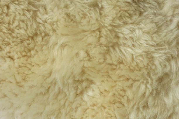 natürlichen schaf fell textur - lammfell stock-fotos und bilder