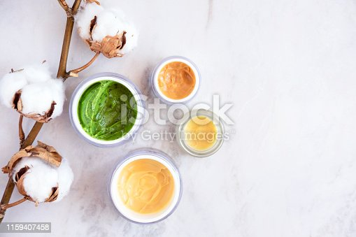 istock Natural skincare cosmetics from above 1159407458