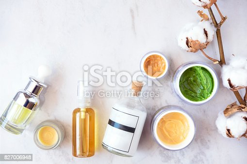 istock Natural skincare cosmetics from above 827006948