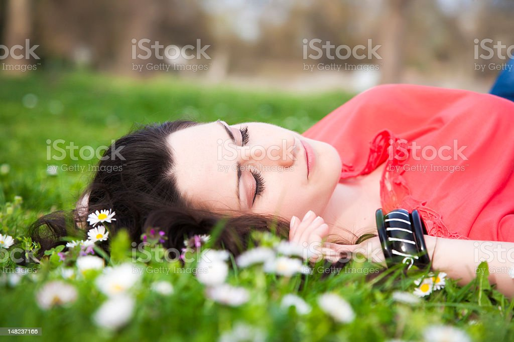 Natural sleep stock photo