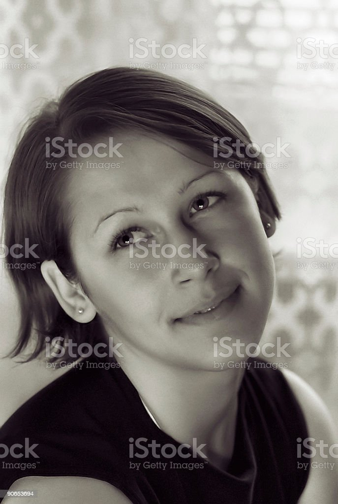 Natural smile royalty-free stock photo