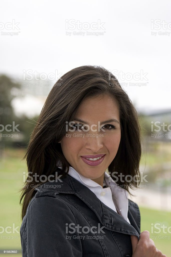 Natural smile stock photo