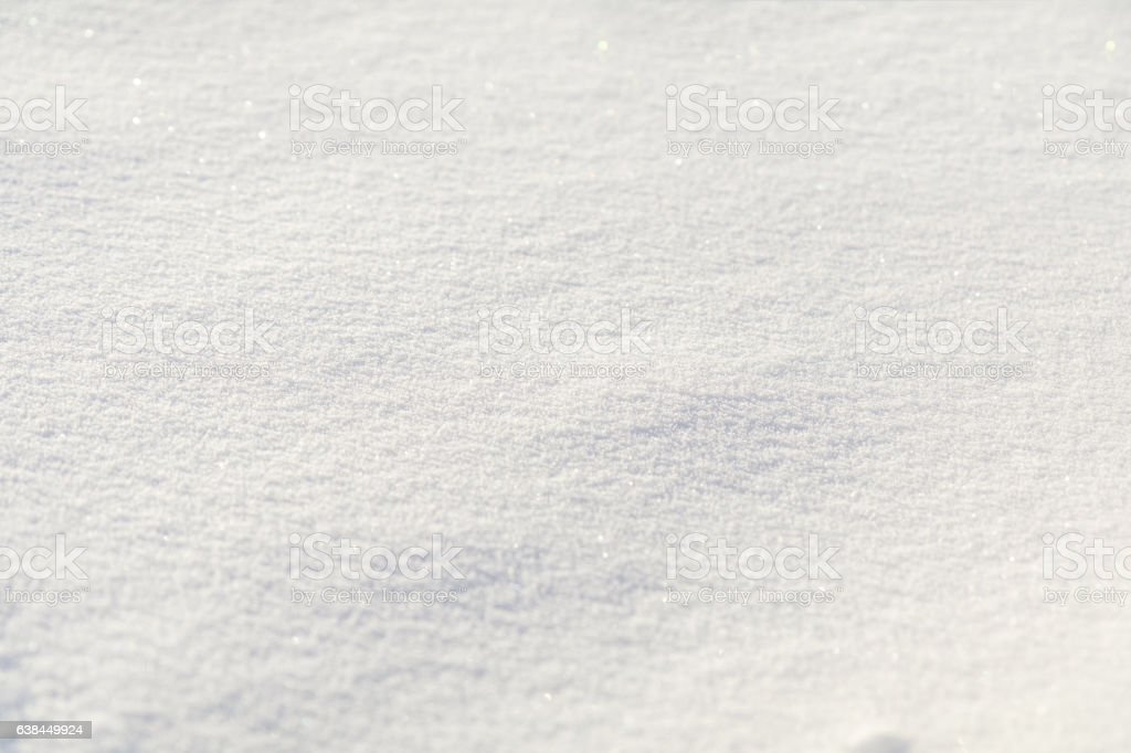 Natural snow texture white background stock photo