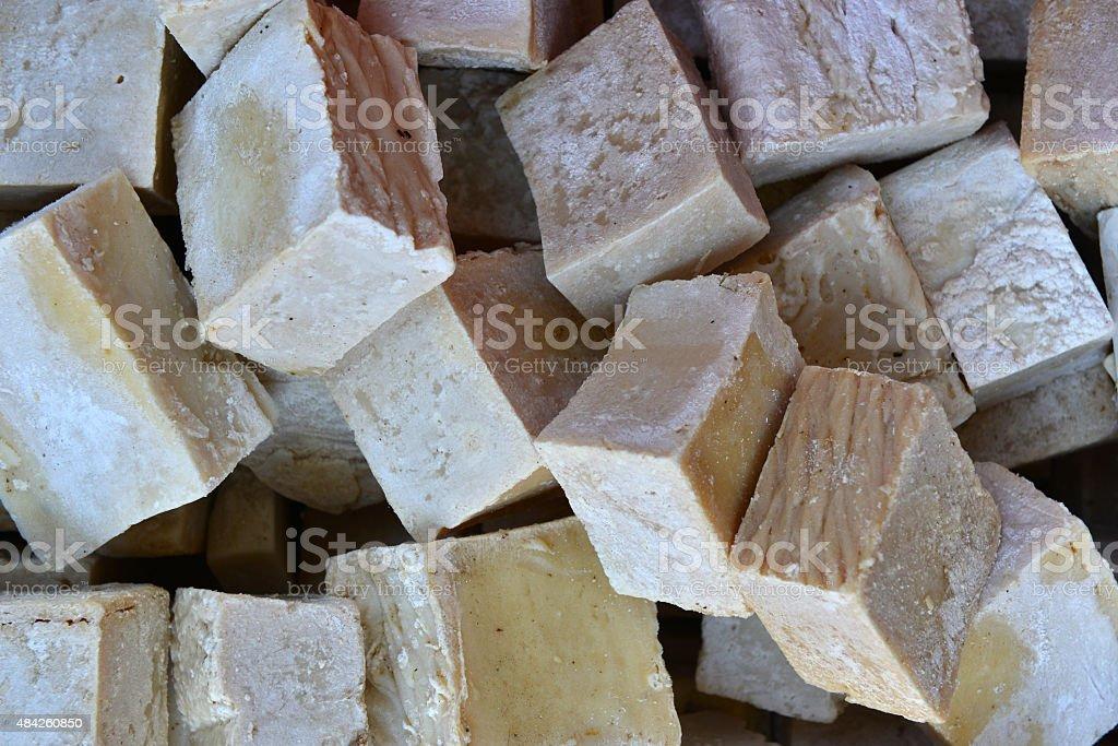 Natural soap bars stock photo