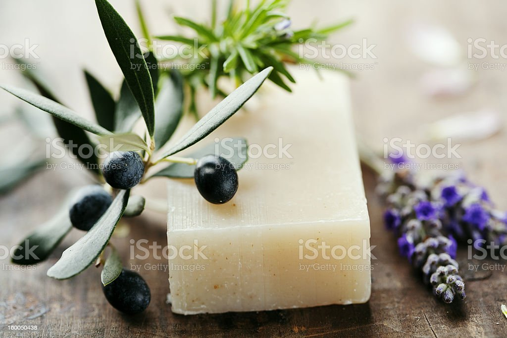 natural soap stock photo