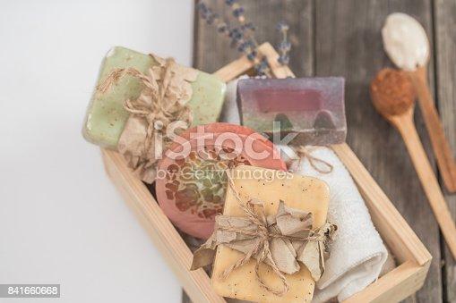istock Natural soap Spa set 841660668