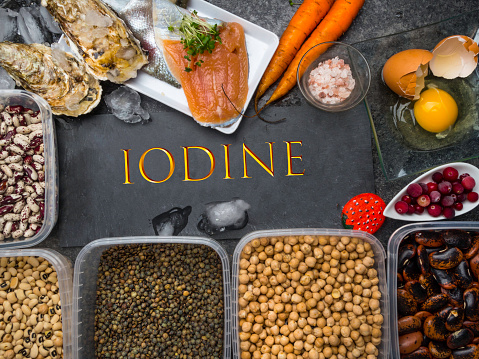 istock Natural sources of food rich of iodine, vitamins and micronutrients. Useful food for health and balanced diet. Prevention of avitaminosis. 1191481961