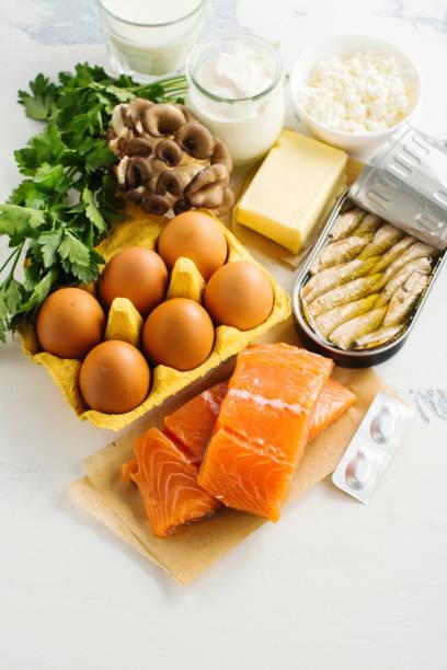d vitamini doğal kaynakları - vitamin d stok fotoğraflar ve resimler