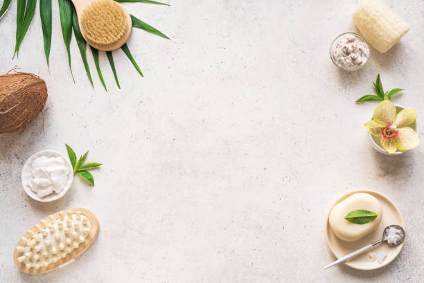 Natural Spa Background stock photo