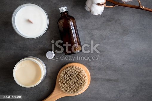 824824368istockphoto Natural spa cosmetic products flat lay 1003153938