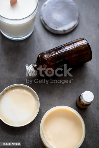 824824368istockphoto Natural spa cosmetic products flatlay 1003153934