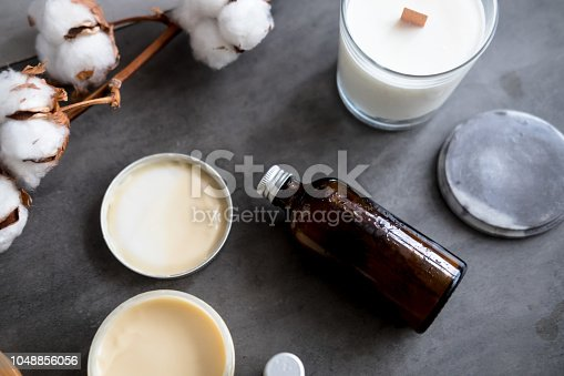 824824368istockphoto Natural spa cosmetic products flatlay 1048856056
