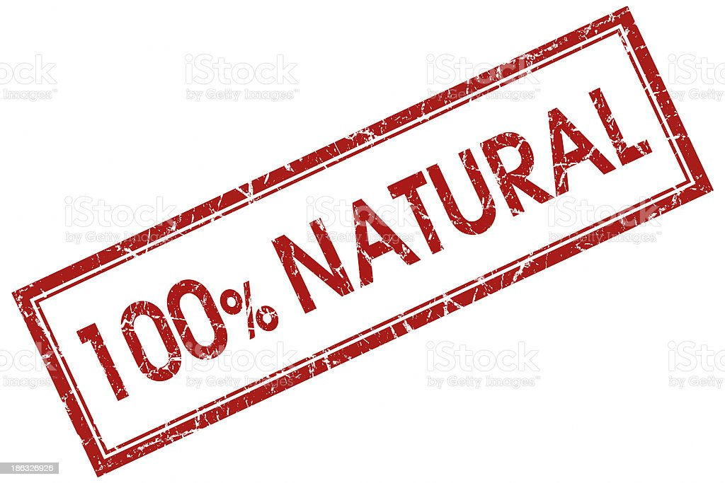 100% natural square red stamp stock photo