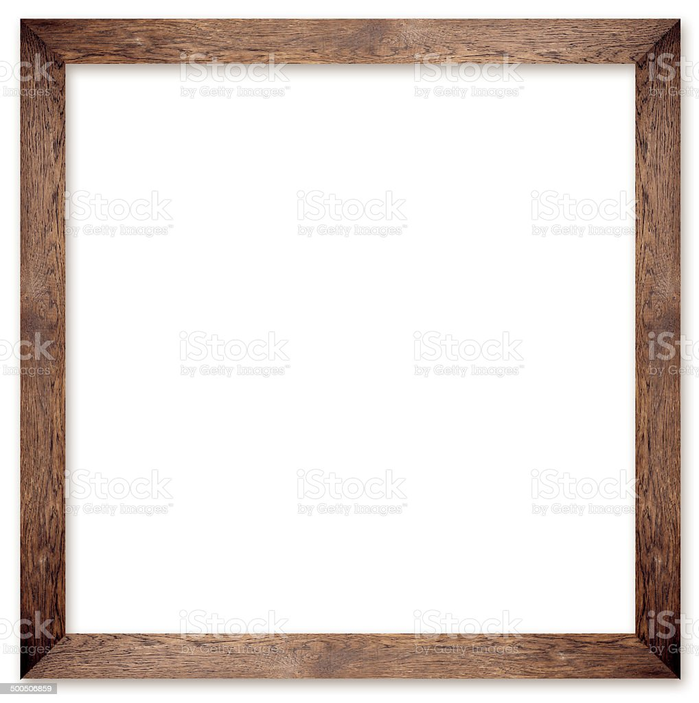 natural square size wooden photo frame stock photo
