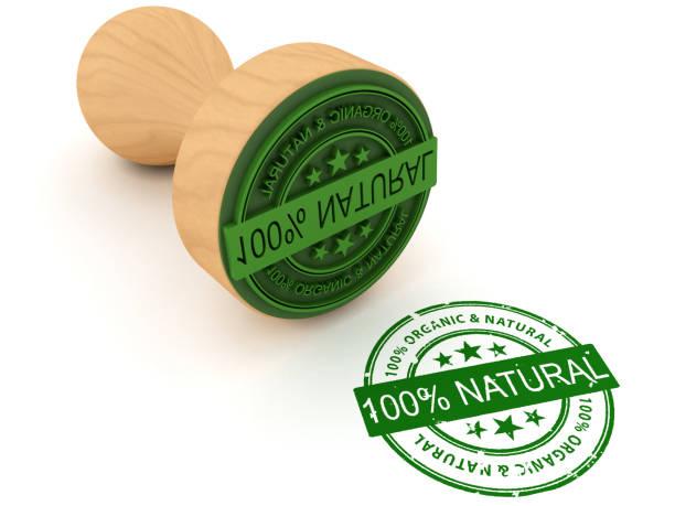 100% natural de la firma - foto de stock