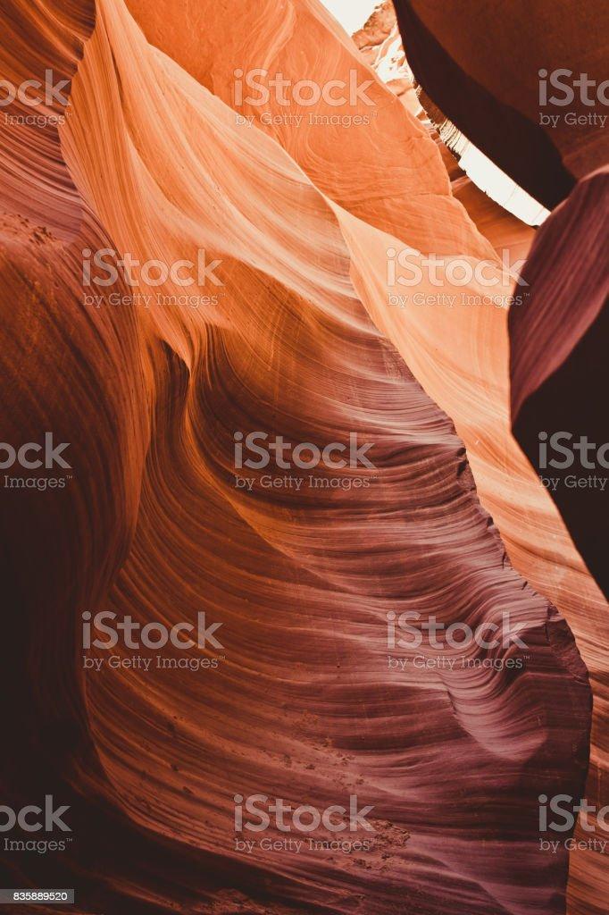 Natural stone texture. Weathered Sandstone in Antelope Canyon, Arizona, USA stock photo