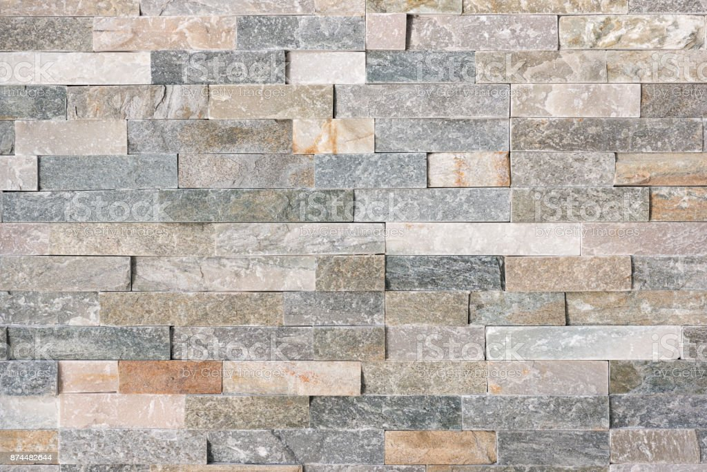Naturstein Fliesen Wand Lizenzfreies Stock Foto