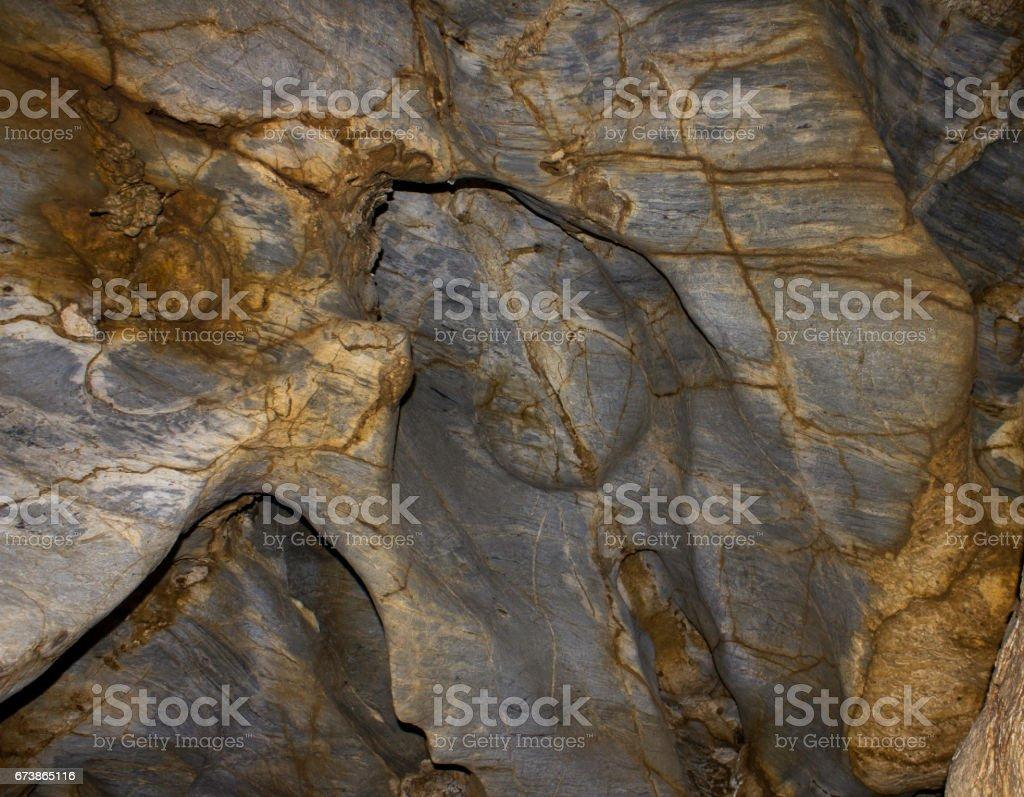 Mağarada doğal taş duvar royalty-free stock photo
