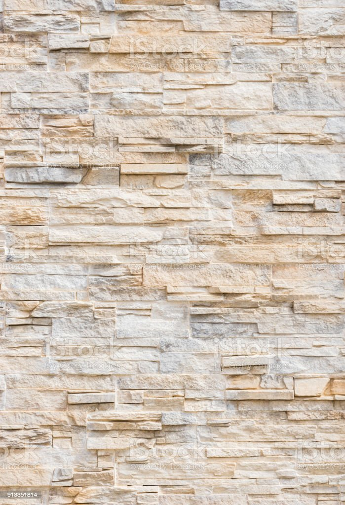 Natural stone wall modern stock photo