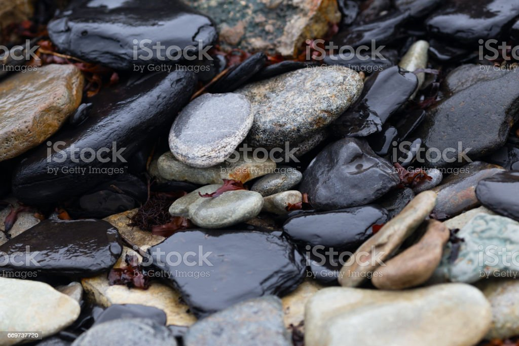 natural stones background stock photo