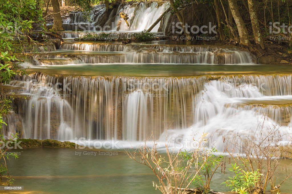 Natural stream waterfalls in national park royalty-free stock photo