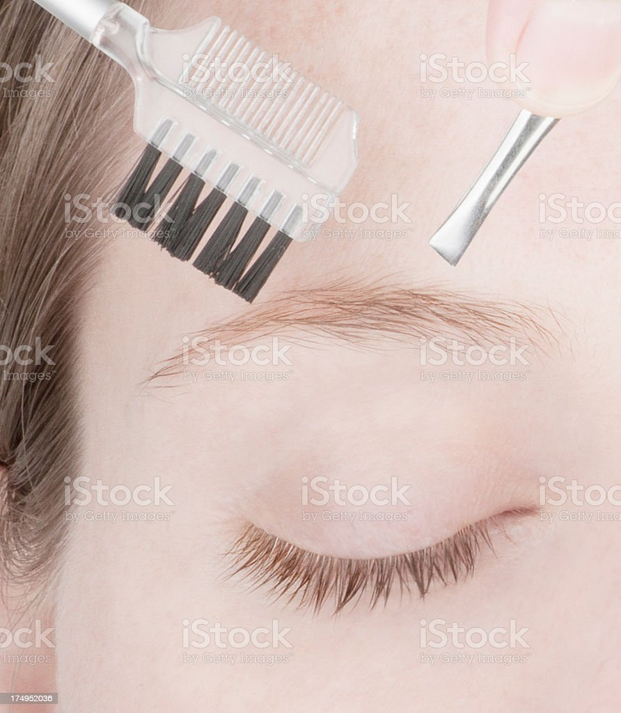 Natural styled eyebrows royalty-free stock photo
