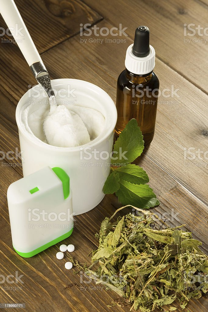 Natural sweetener stevia stock photo
