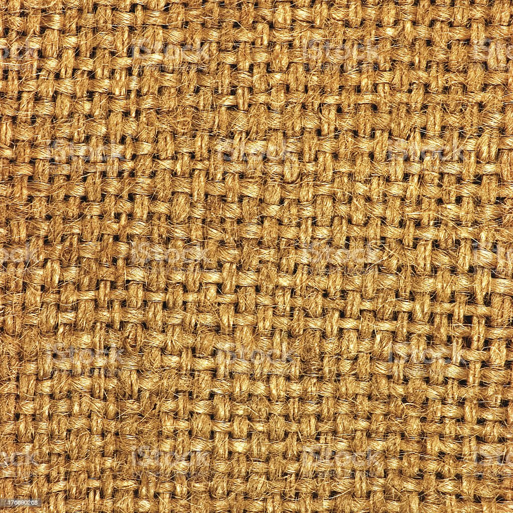 Natural textured burlap sackcloth royalty-free stock photo