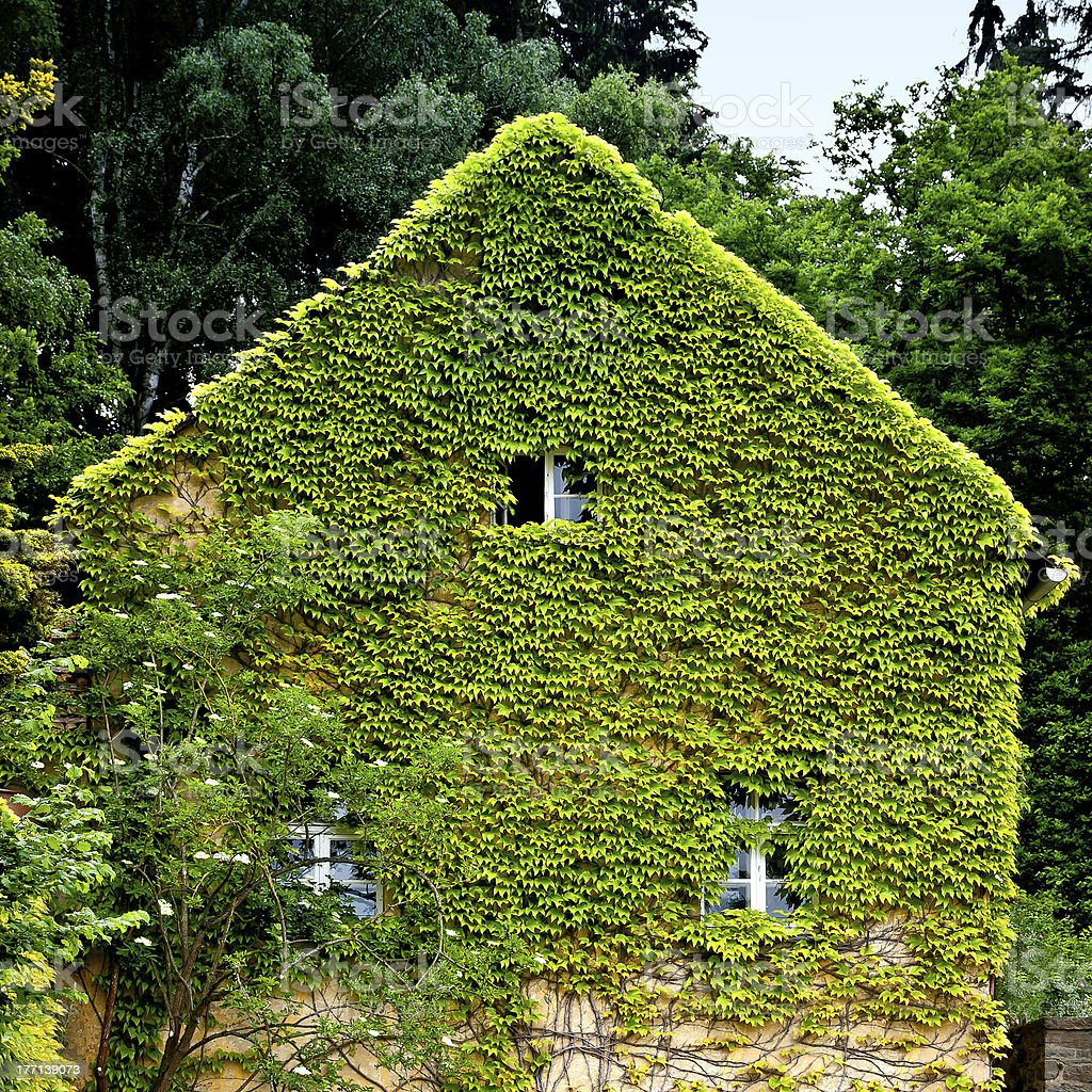 natural thermal insulation of an older house stock photo