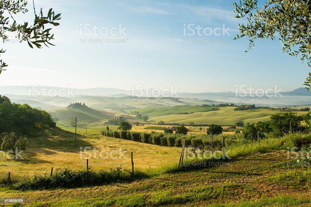 Natural Tuscany Italy stock photo