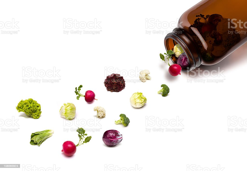 Natural Vitamin Pills stock photo