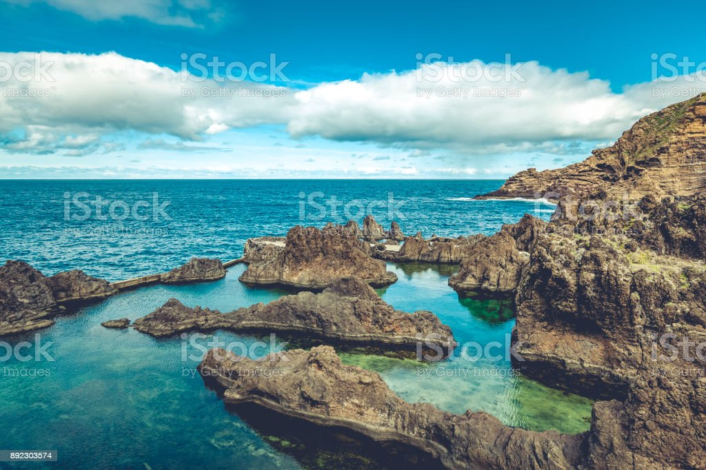 vulkanische Naturpools in Porto Moniz, die Insel Madeira, Portugal – Foto