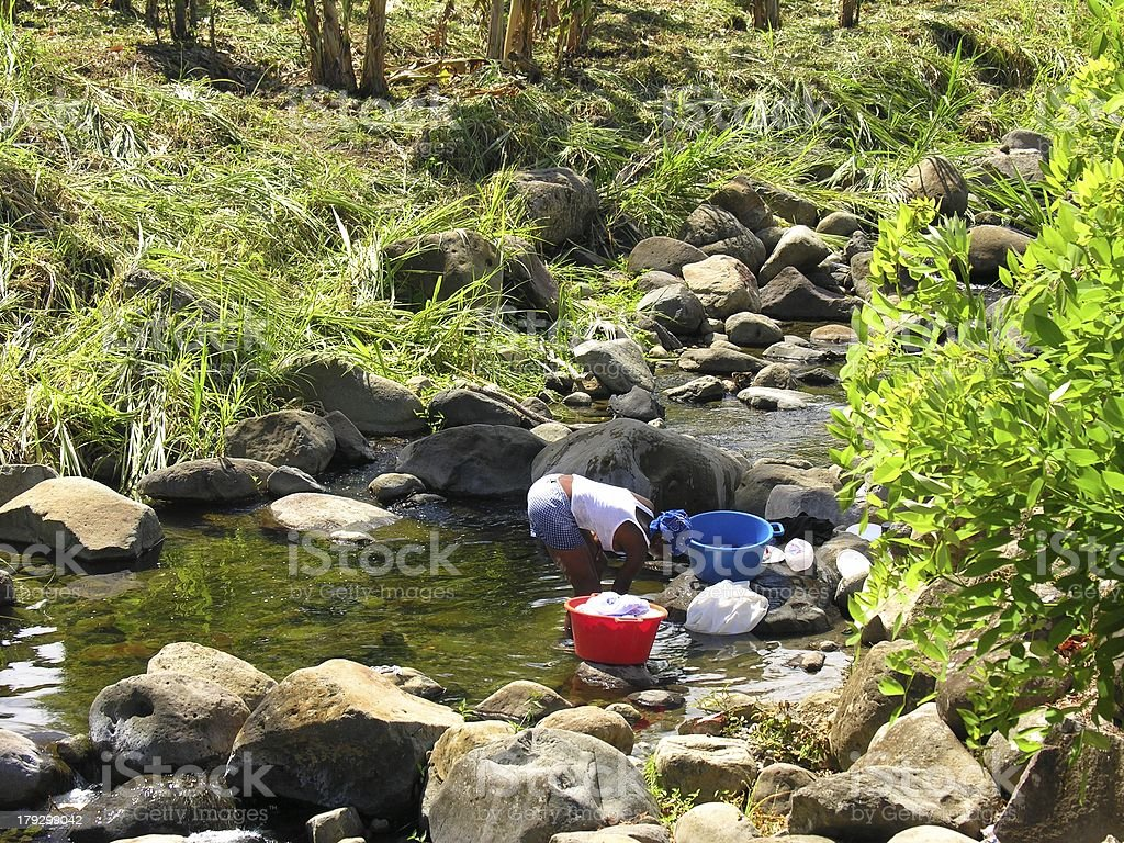 Natural Washing royalty-free stock photo