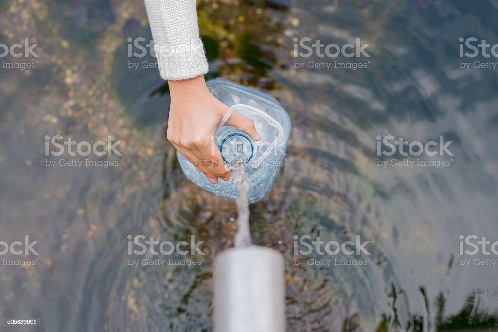 Natural water. stock photo