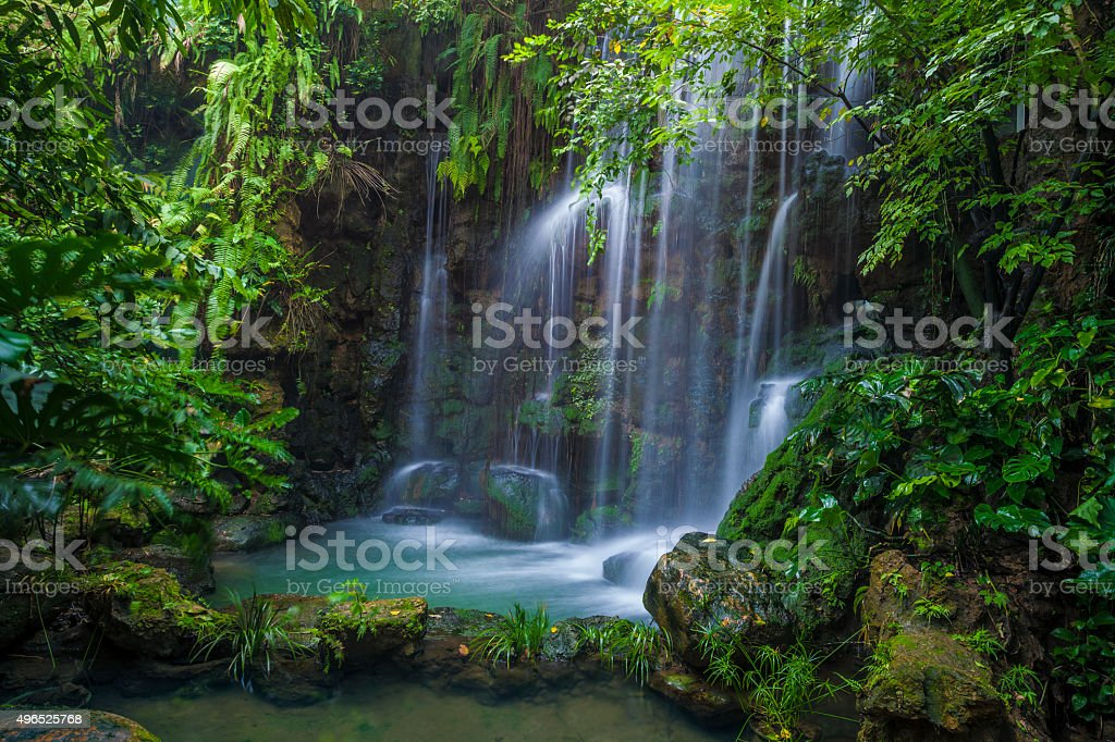 Natural waterfall stock photo