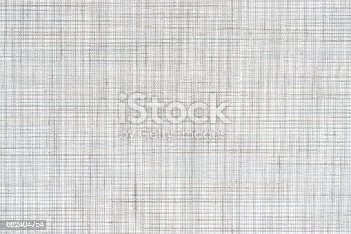 istock Natural white linen texture 882404754