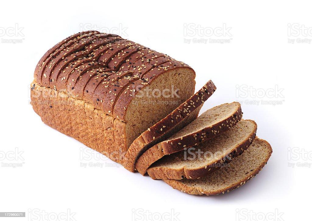 natural whole grain bread stock photo