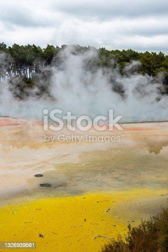 istock Natural wonders at Waiotapu Thermal Wonderland, New Zealand 1326939561
