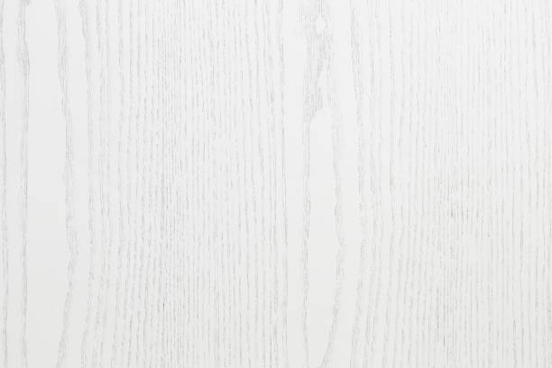 Natural wood background texture full frame painted in white stock photo