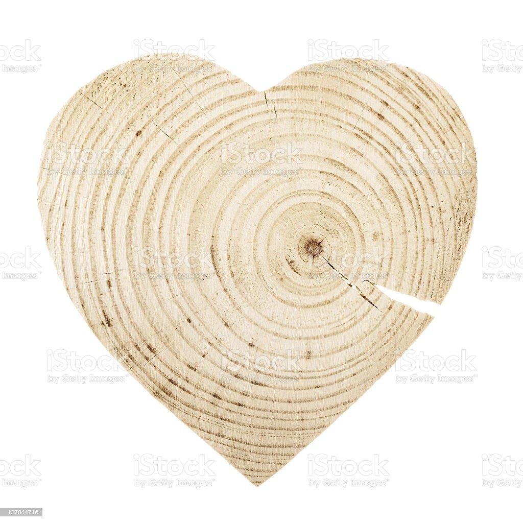 Natürliche Holz Herz – Foto