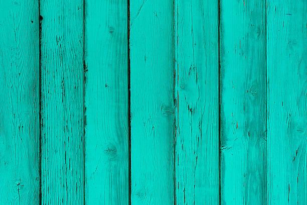 Natürliche Holz- und Minze-boards, Wand oder Zaun mit Knoten – Foto