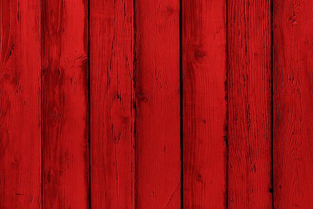 Natürliche Holz lackiert Rot Bretter, Wand oder am Zaun mit Knoten – Foto