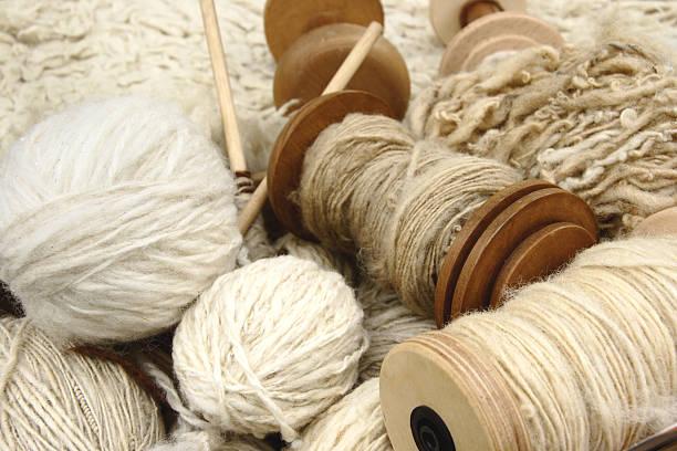 Lana Natural yarns - foto de stock