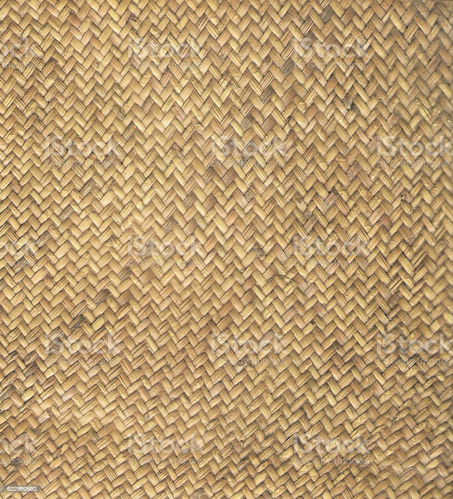Natural woven rattan seamless textured stock photo