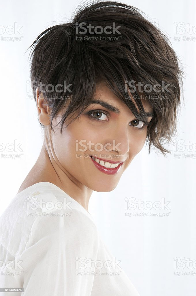 Natural young woman beauty stock photo