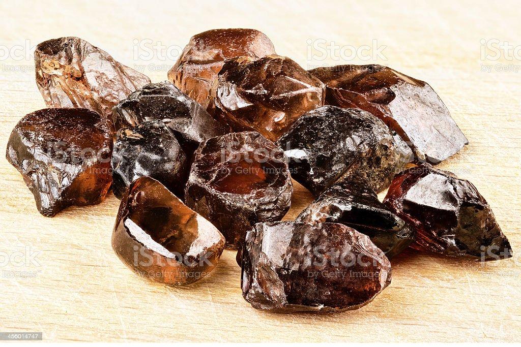 Natural Zircon crystals stock photo